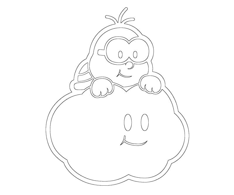 Mario Kart 7 Printable Coloring Pages : Another lakitu colorin