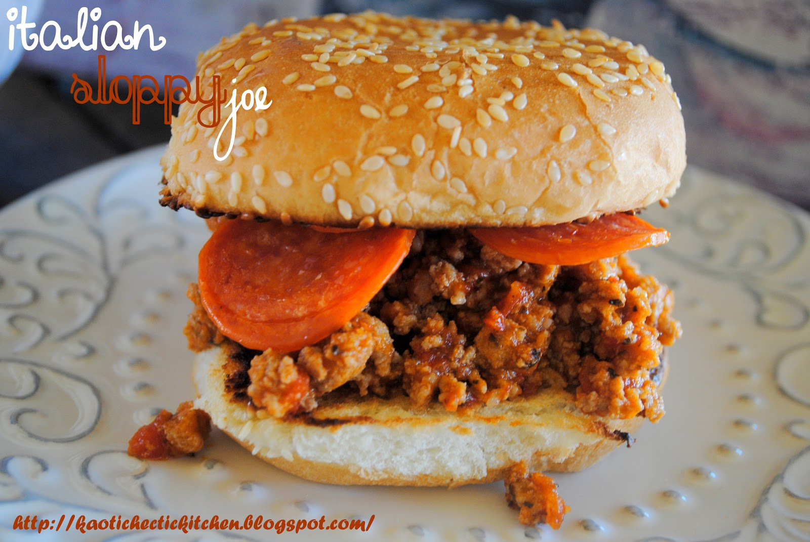 my kaotic kitchen: italian sloppy joes