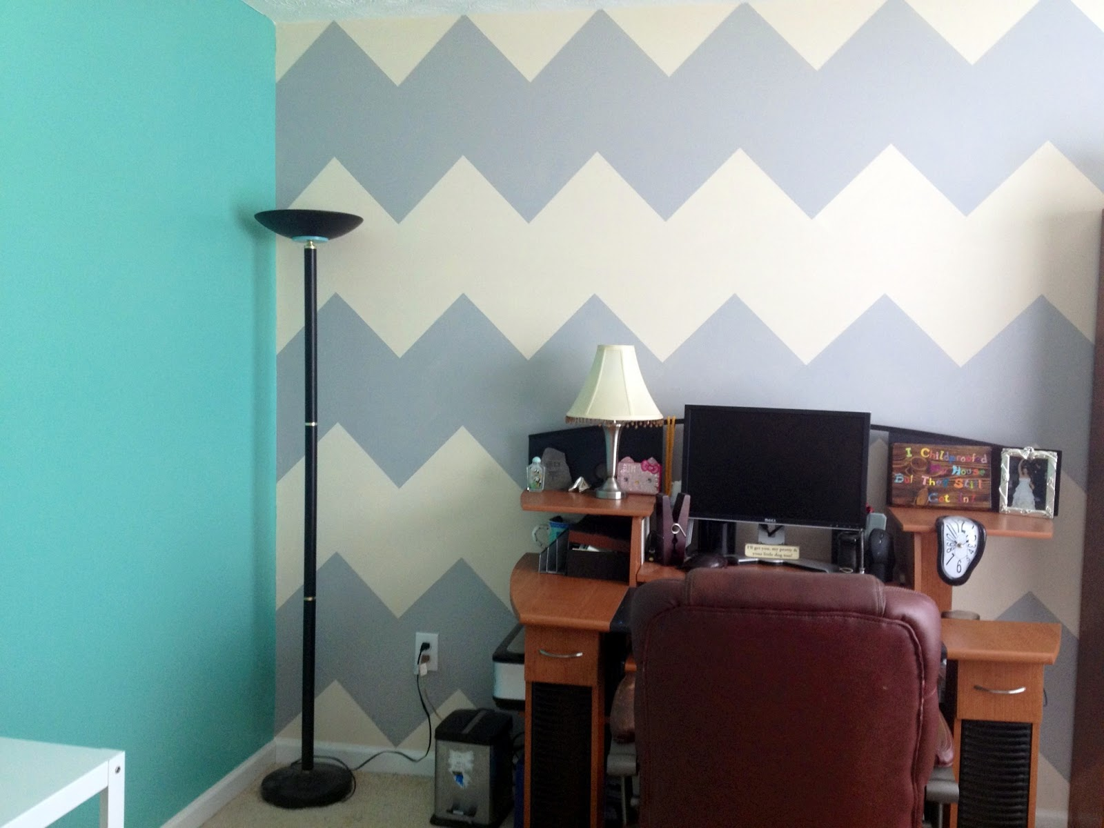 Cool And I um beyond crazy about my chevron wall If you ure wondering why this corner is empty you ull be wowed with it very soon