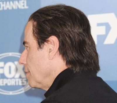 John Travolta wig bald funny