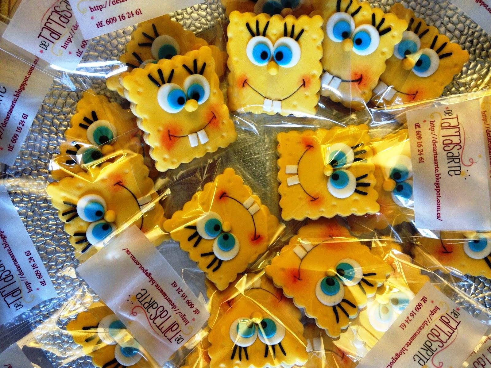 GALLETAS fondant decoradas, bob esponja; galletas bob esponja