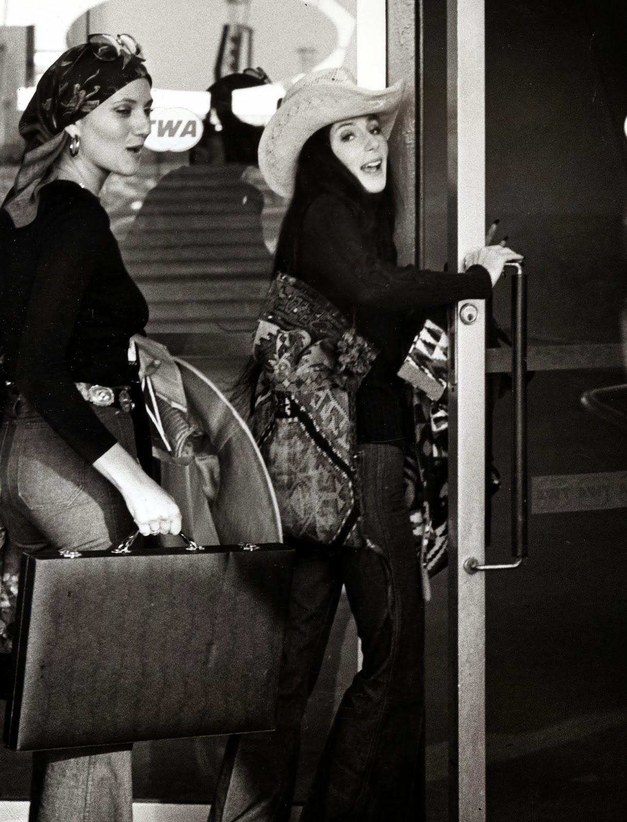 Airport-Celebs-Cher-JFK-1974