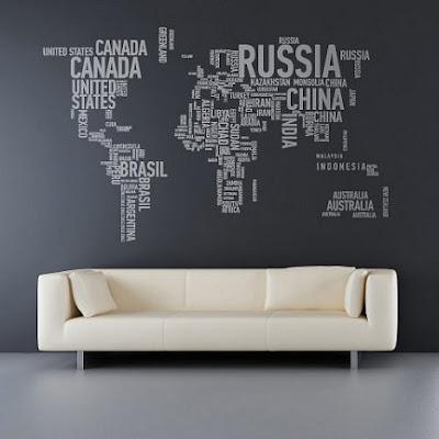adesivos de mapa mundi