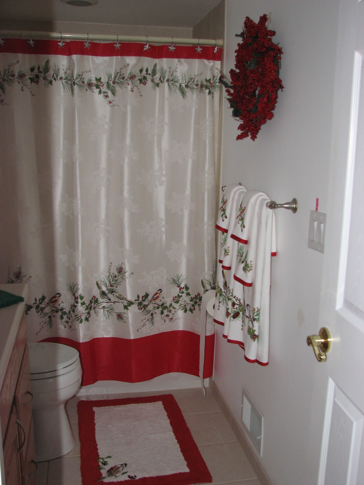 make sure to tell the grandkids not to use the towels hanging up  they are strictly for decoration   Use the hand towels set out on the bathroom sink. And So The Journey Begins  CHRISTMAS 2011