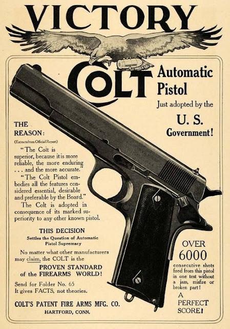 Vintage Colt 1911 45 ad