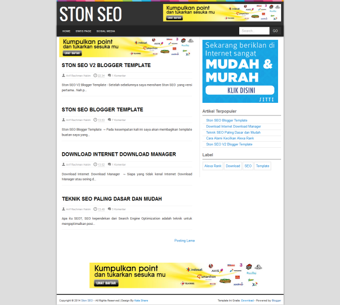 Ston SEO V2 Blogger Template