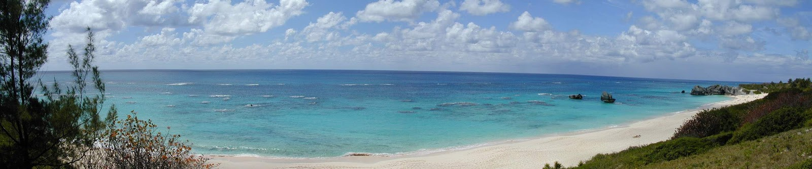 Panoramic tropical beach photos