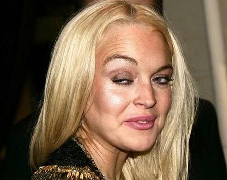 Las 10 Peores imagenes de Lindsay Lohan