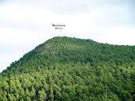 El Puig Montmany des del camí de les Penyes de Sant Ponç