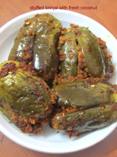 coconut stuffed brinjal
