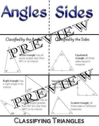 Classifying Triangles Foldable Geometry classifying triangles