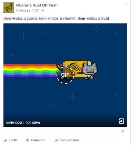 Facebook já permite a publicação de GIFs animadas