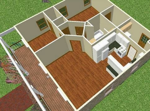 Planos de casas peque as planos en 3d de casas for Planos de casas pequenas