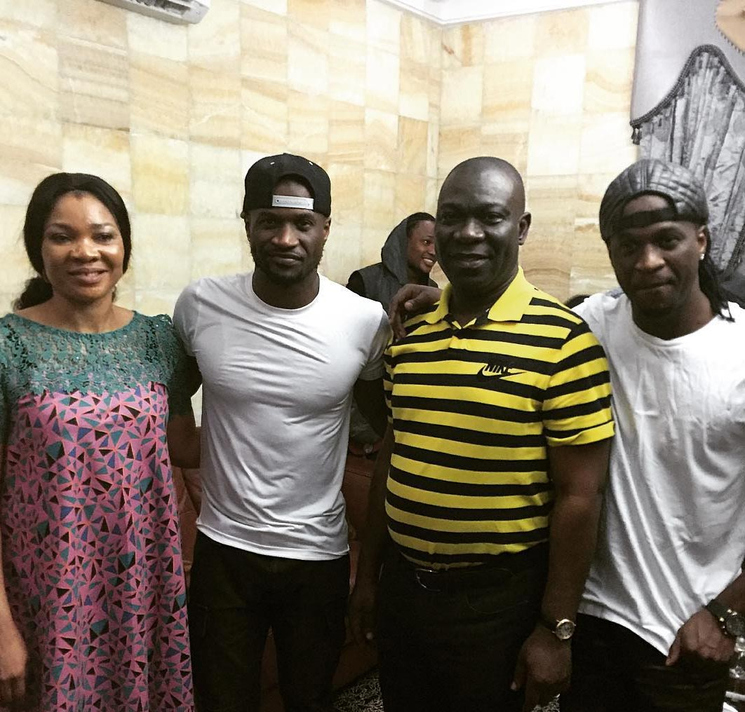 Psquare Hangs Out With Dep Senate President Ekweremadu And Wife At Dinner Party (Photos)