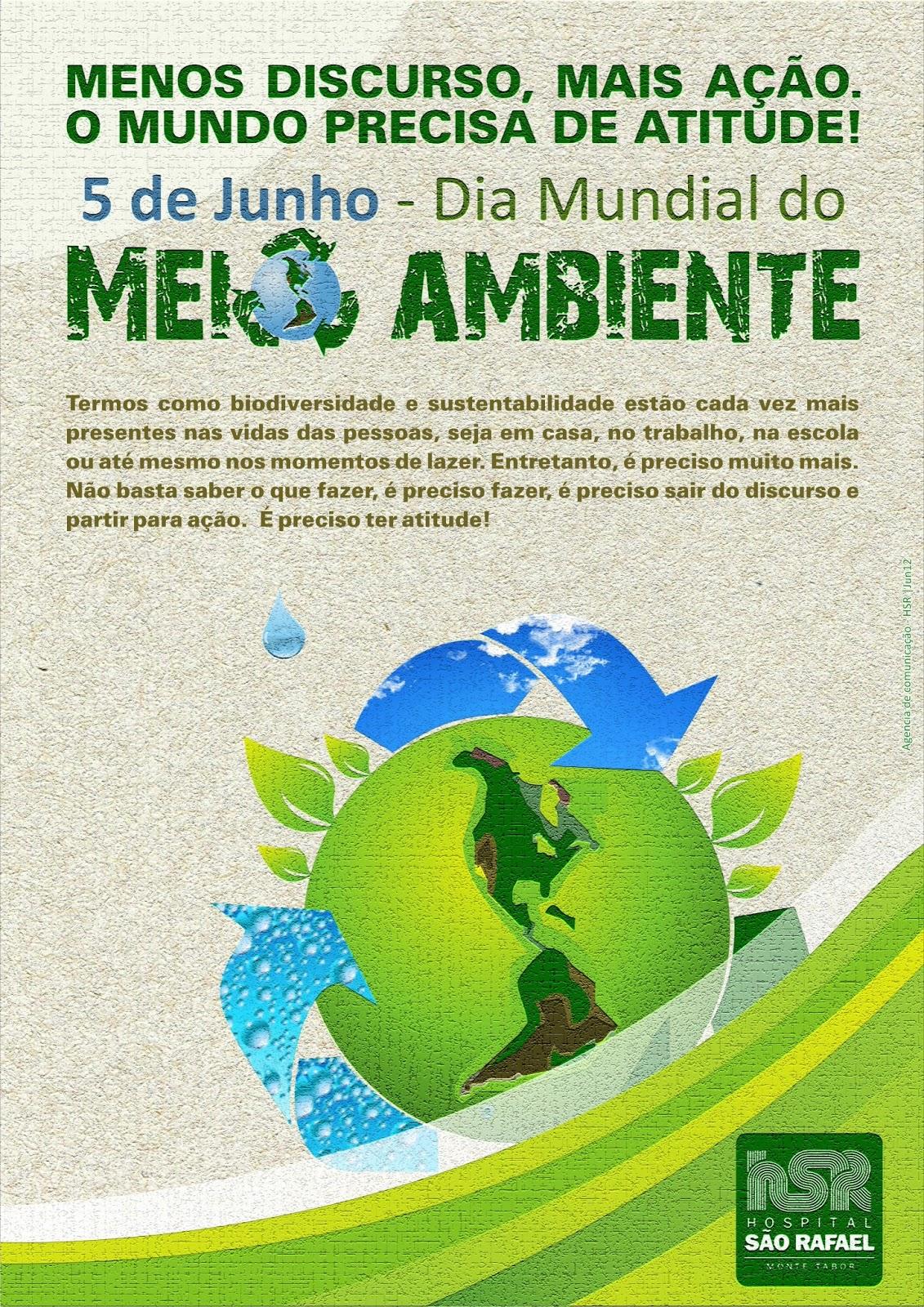 Cartaz dia mundial do meio ambiente hospital s o rafael for Mural sobre o meio ambiente