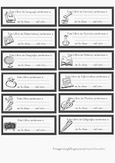 Etiquetas para libros gris