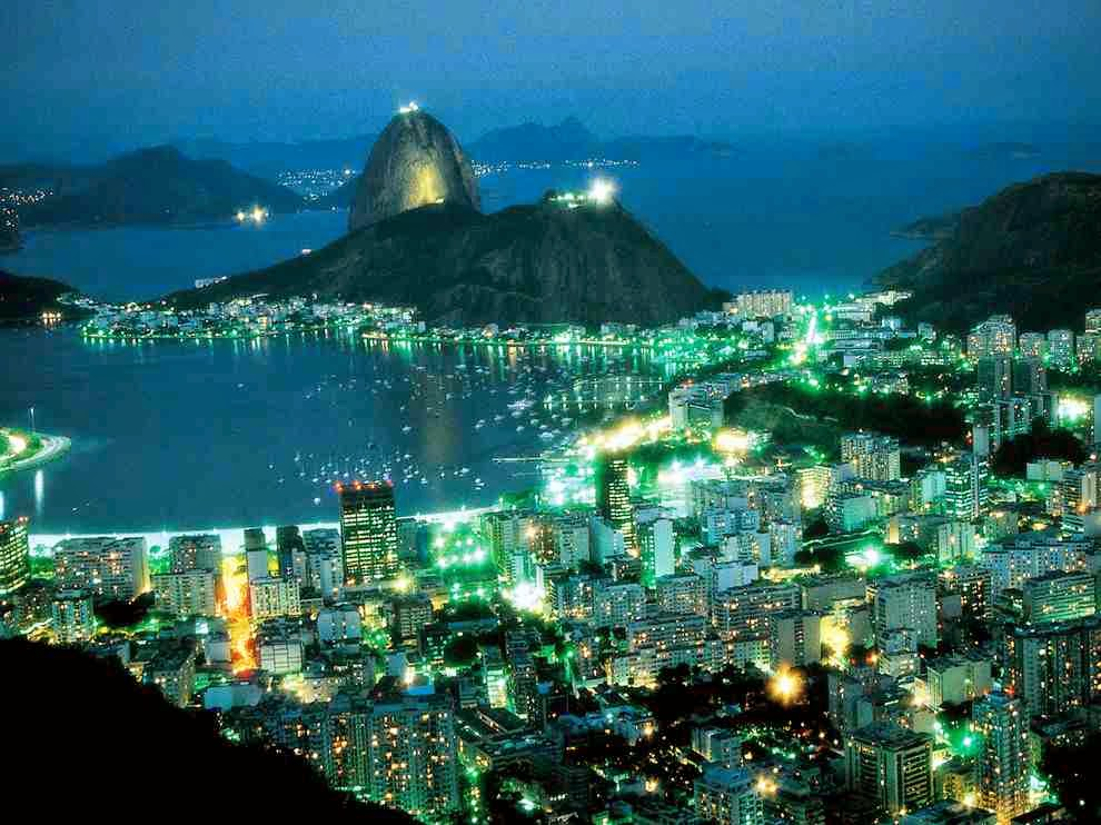 The City of Rio de Janeiro at night