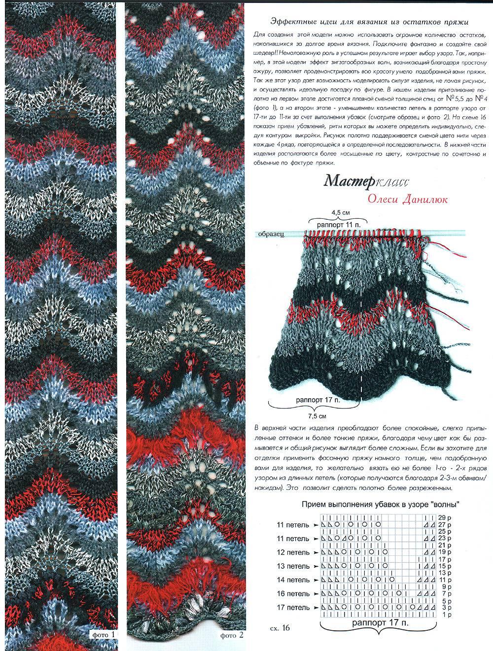 Вязание спицами двухцветное миссони
