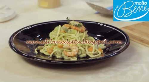 Troccoli con Fave e Mazzancolle ricetta Parodi per Molto Bene su Real Time