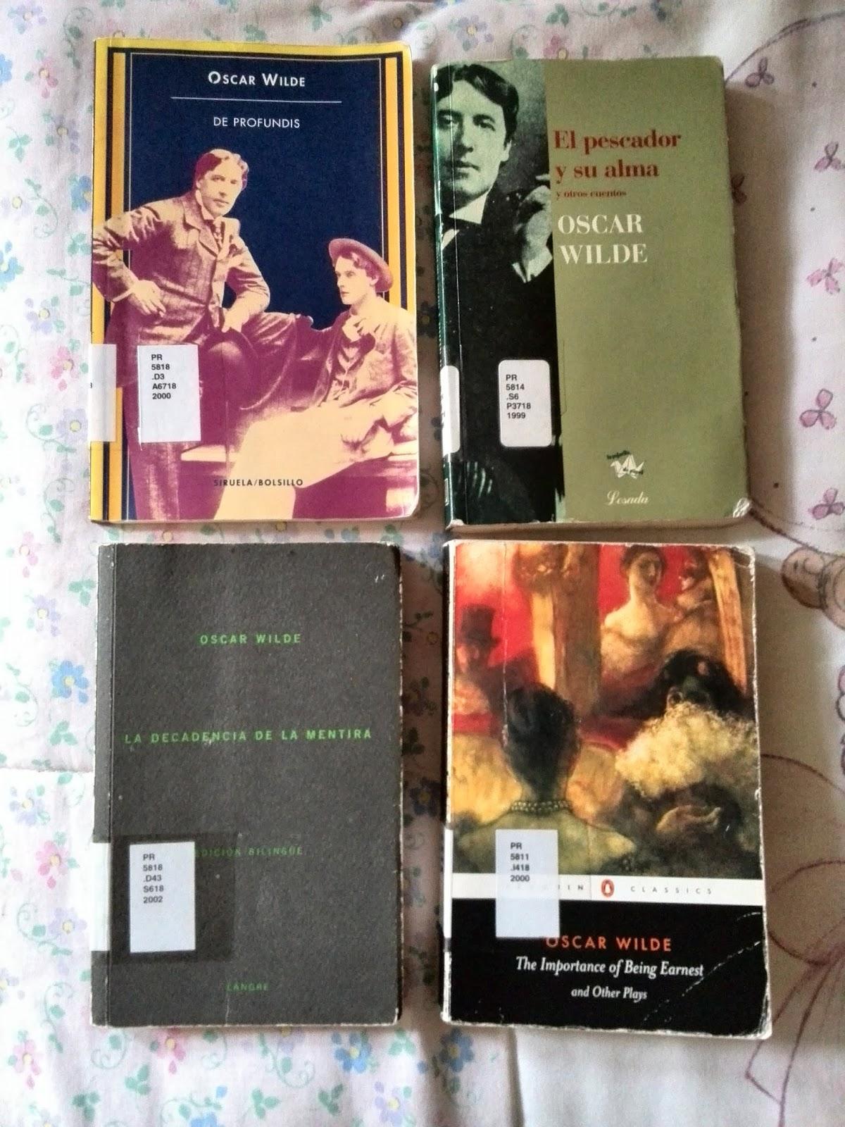 libros oscar wilde