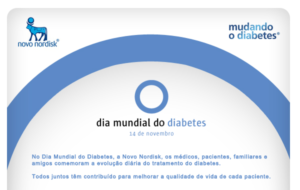 Dia do Diabetes - o círculo azul