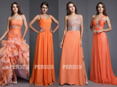 Robes demoiselles d'honneur orange