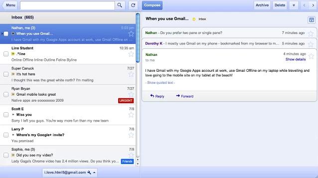 Gmail offline chrome extension