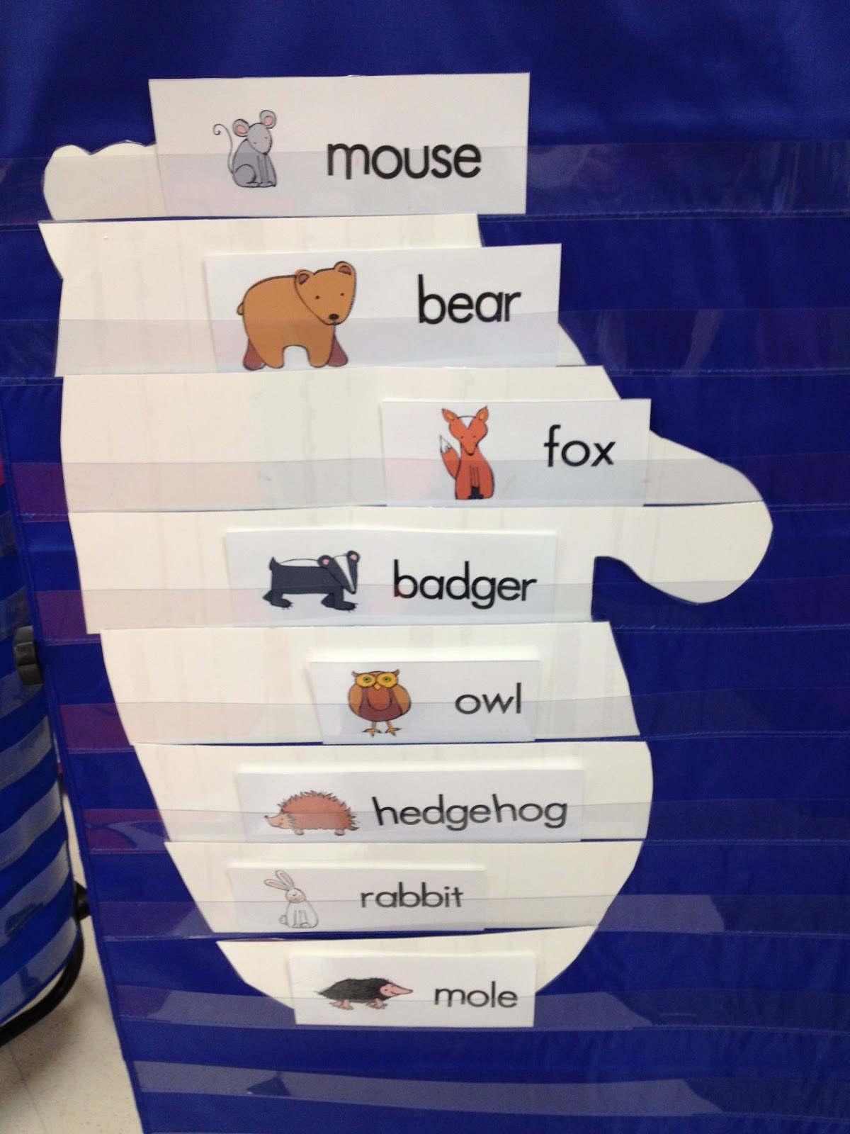 Camp Kindergarten Mitten Pocket Chart Picture  Letter Sound