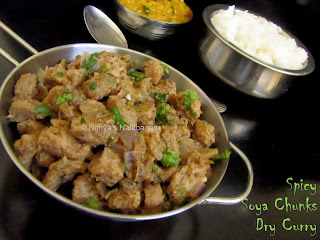 spicy Soya Chunks Dry Curry