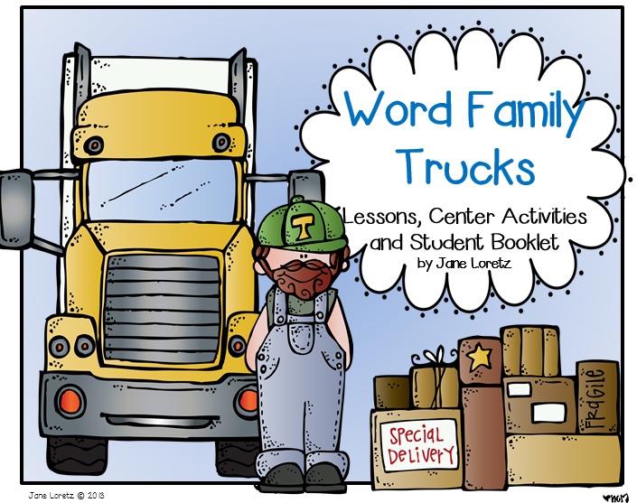 http://www.teacherspayteachers.com/Product/Word-Family-Trucks-Lesson-Center-Activities-and-Student-Booklets-748007