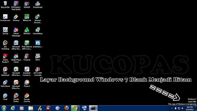 Cara Mengatasi Dan Mengembalikan Layar Windows 7 Yang Eror Menjadi Hitam