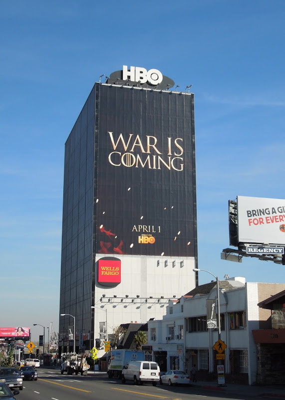 Game of Thrones 2 HBO billboard