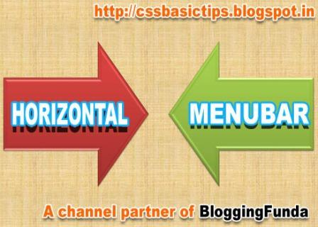 Creating a Horizontal Menubar is not so difficult but requires your attention towards each small part of the menubar.