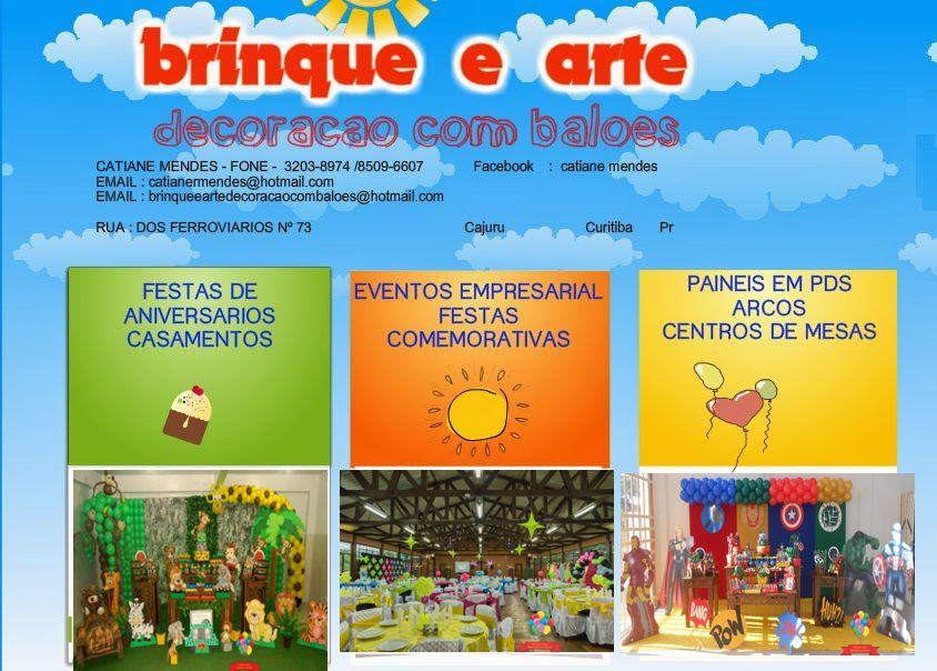 Brinque e arte decoração com balões