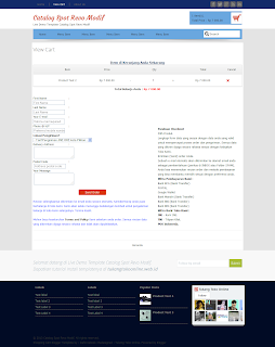 view cart page catalogspot revo modif