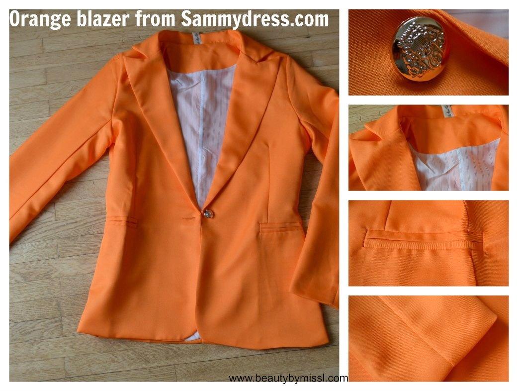 orange blazer from Sammydress