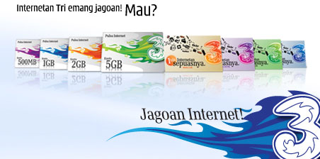 Informasi Tarif Internet Three Unlimited ini akan terus diupdate