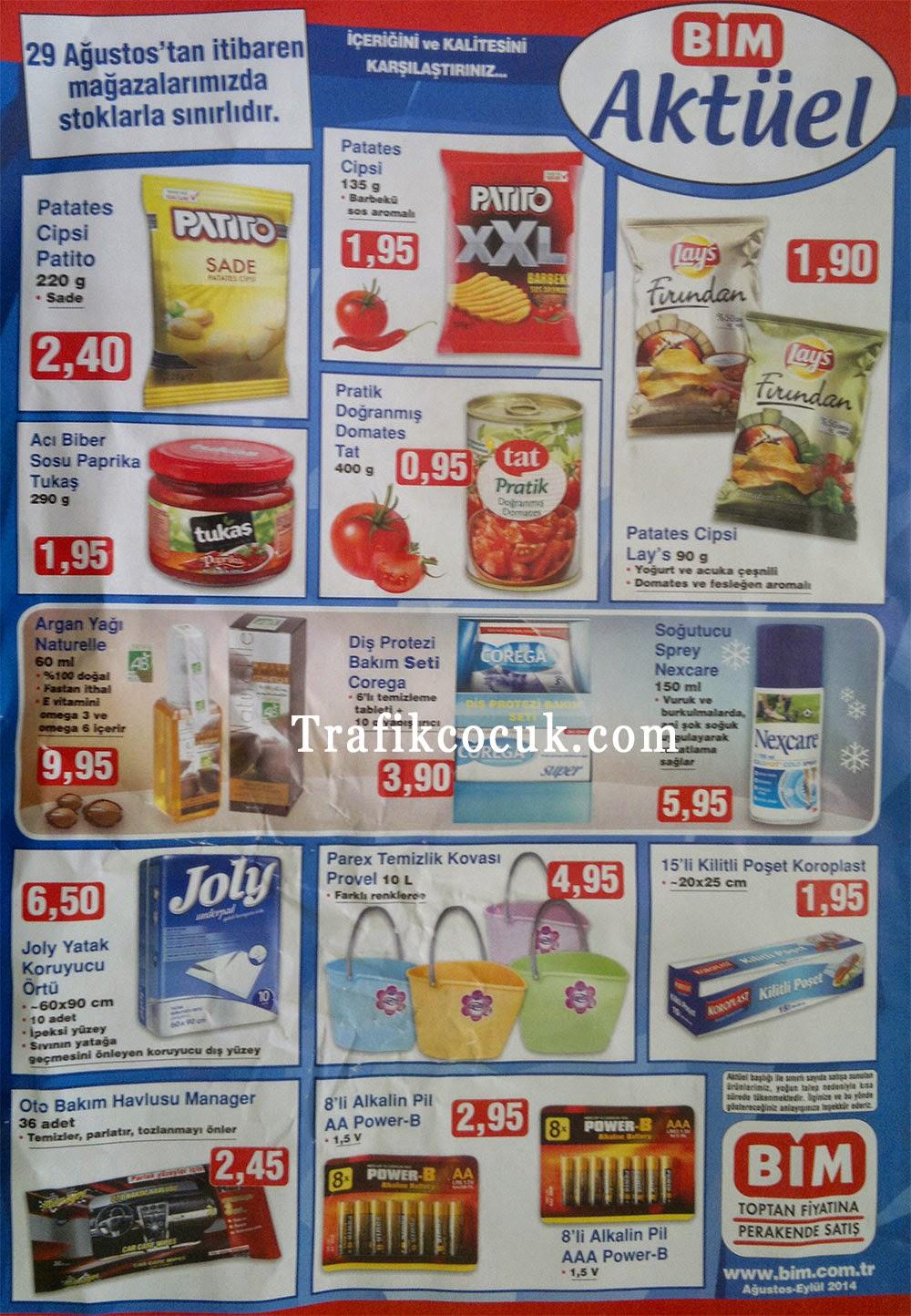 Bim 29 ağustos aktüel ürünler