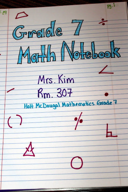 Middle School Math Madness Beginning Your Interactive Notebook