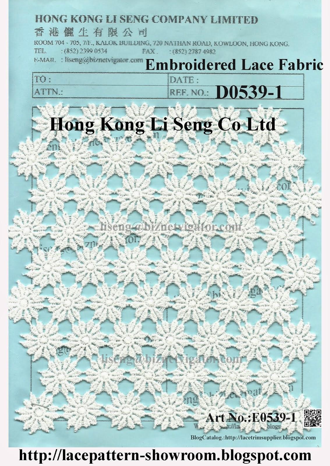 Embroidered Cotton Lace Fabric Factory - Hong Kong Li Seng Co Ltd