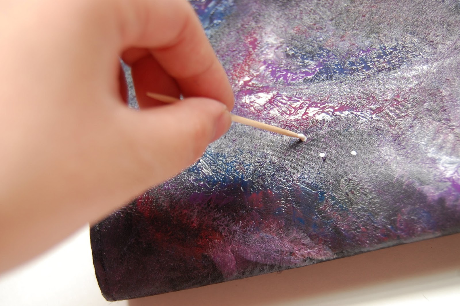 Galaxy Painting Tutorial One dip into the paint can get
