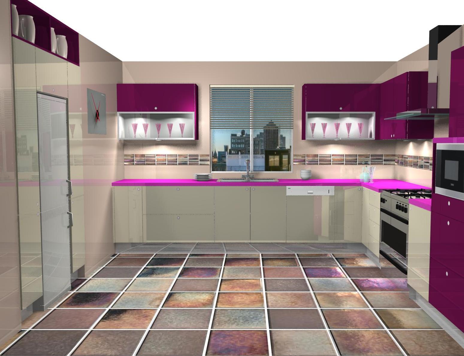 Cocina Color Berenjena Perfect Color Berenjena Para Una Cocina  # Muebles Color Fucsia