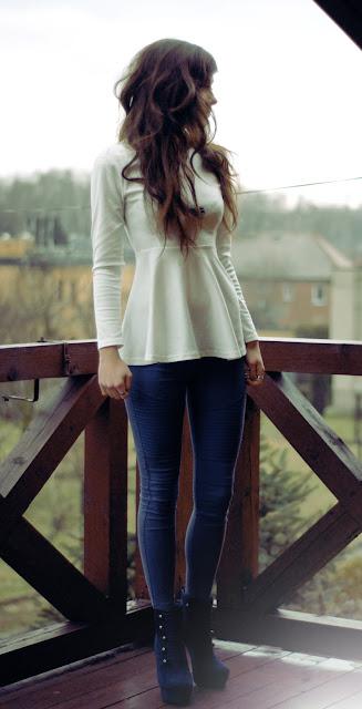 lookbook, style, chictopia, peplum, outfit, kobieta, sexy, włosy, brunetka, długie, nogi, włosy