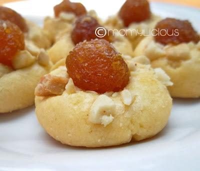 Pineapple Thumbprint Cookies