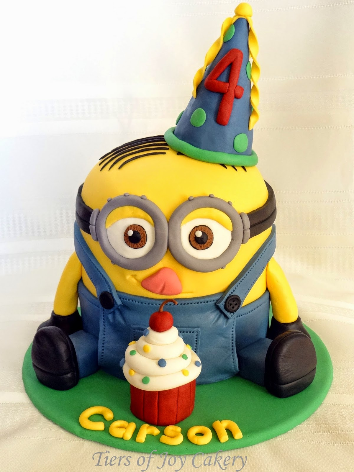 Tiers of Joy Cakery Despicable Me Minion Dave Cake