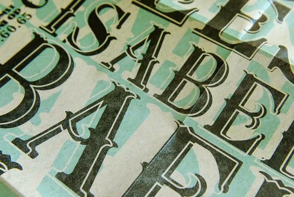 diseño de invitaciond e bodas con tipografia