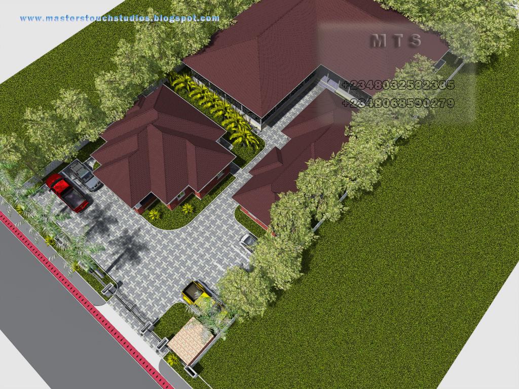 Poultry design 3 bedroom bungalow plus a boys quarters