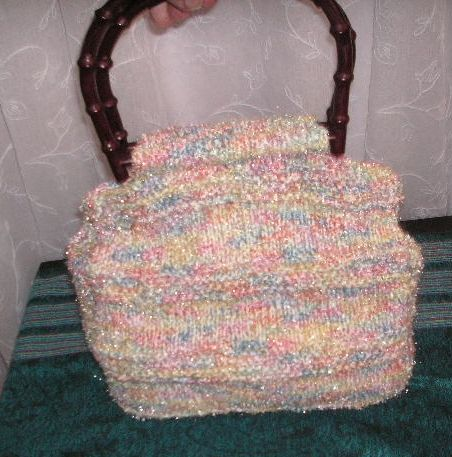 Knitted Bag Patterns For Beginners : Knitting Galore: Easy Knit Handbag