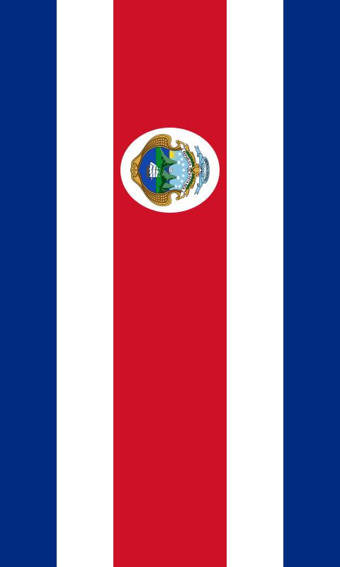 bandera de Costa Rica para imprimir