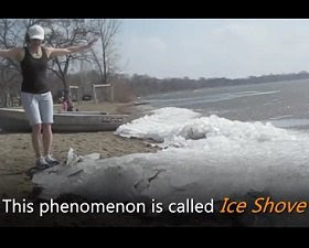 Ocean Currents causing Ice Shove – Amazing to See